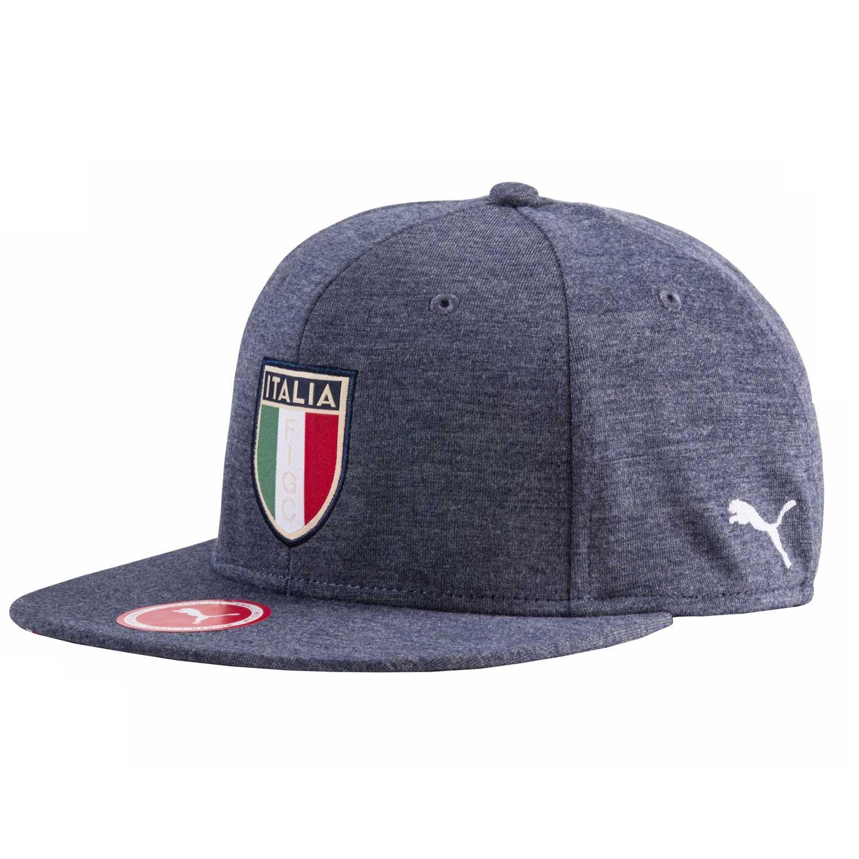 FIGC Cap Peacoat-Light Gray He