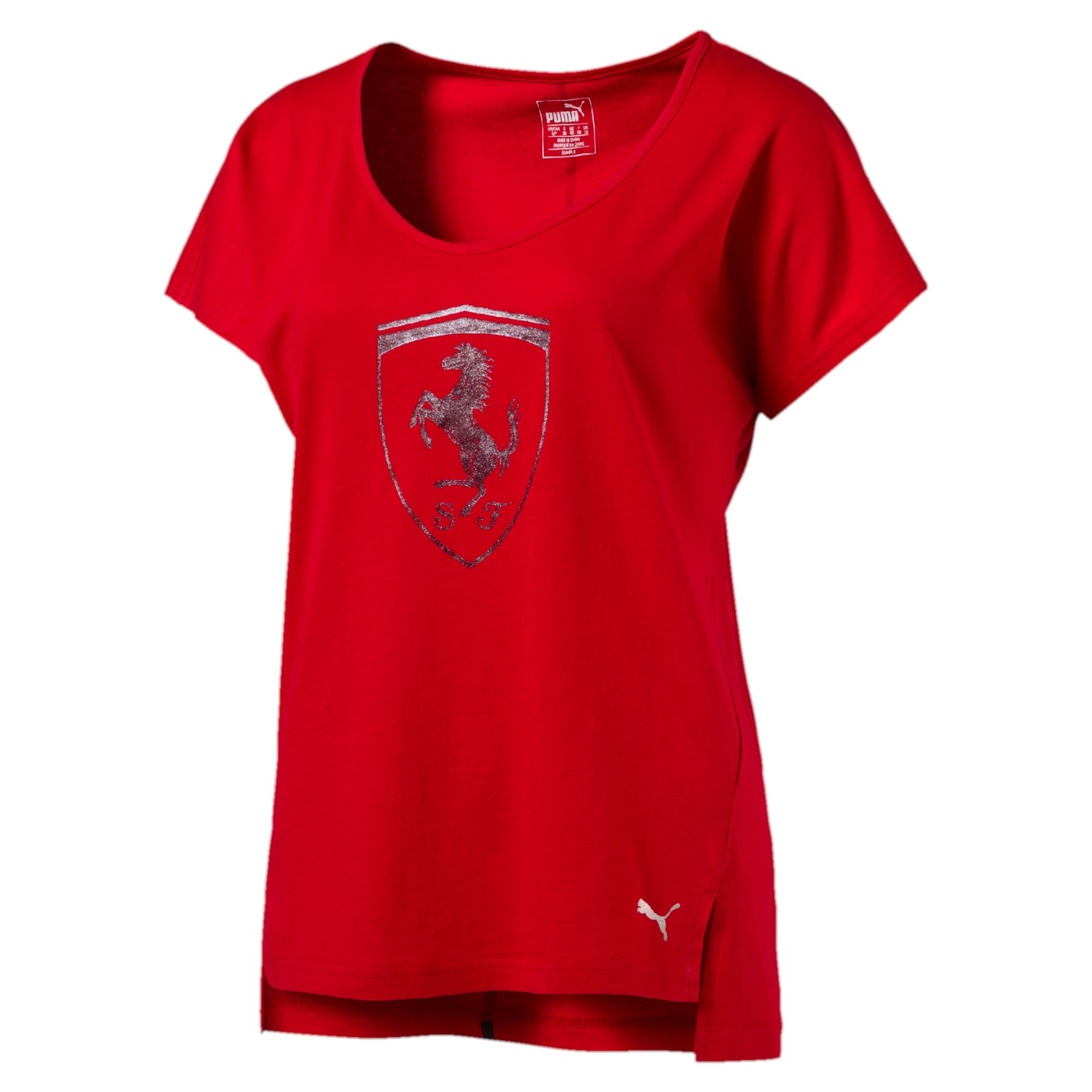 Ferrari Big Shield Tee Rosso C