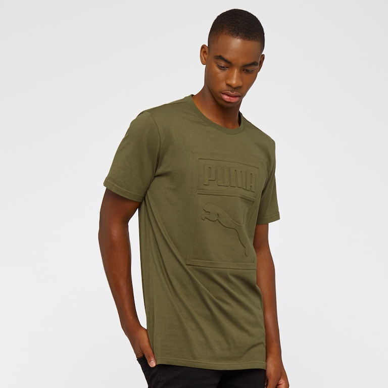 Archive Embossed Logo Tee Olive Night