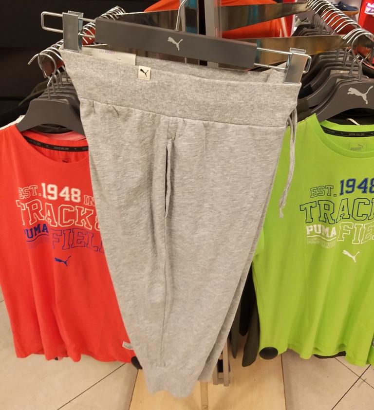 Washed 3/4 Sweat Pants gray