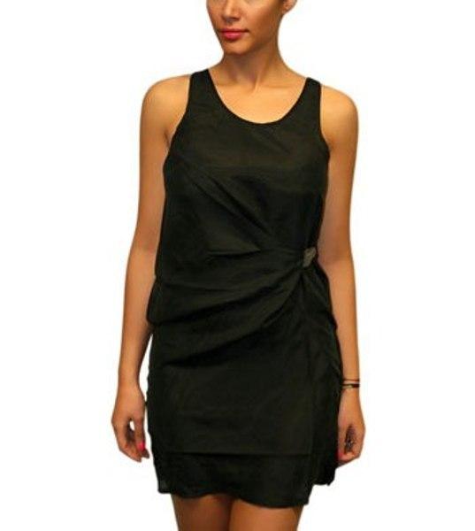 WN Sport Drape Dress black