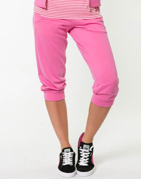 Washed 3 4 Sweat Pants pink-wa